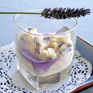 verrine de mascarpone à la violette