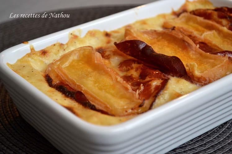Lasagnes aux poireaux, coppa et Maroilles