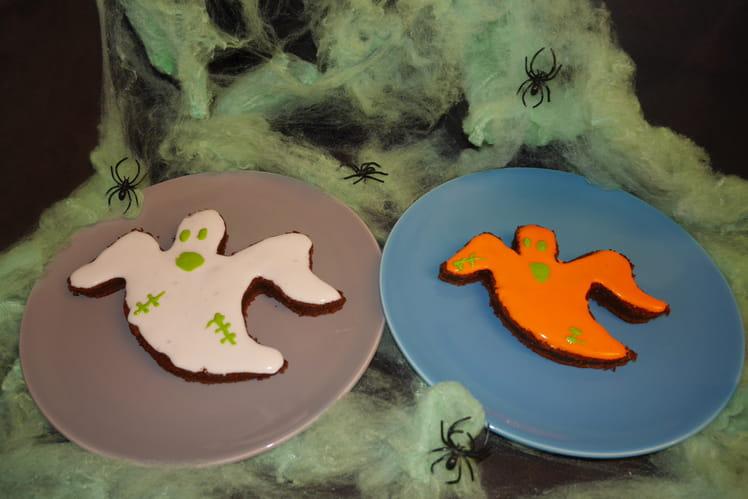 Biscuits fantômes au chocolat pour Halloween