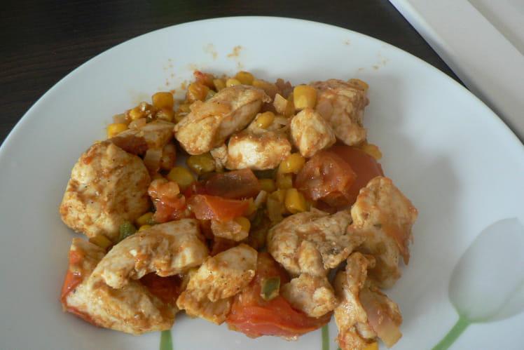 Poulet épicé façon wok