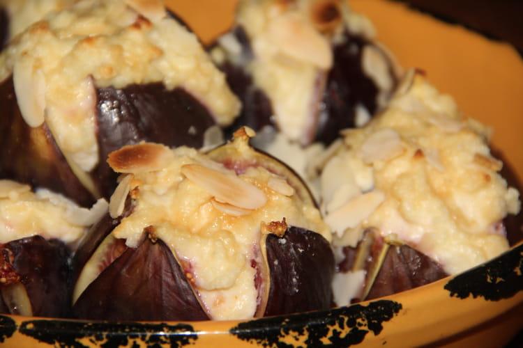 Figues rôties, amandes, ricotta, Amaretto et sirop d'érable