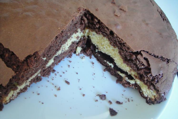 Gâteau aux deux chocolats et aux noisettes