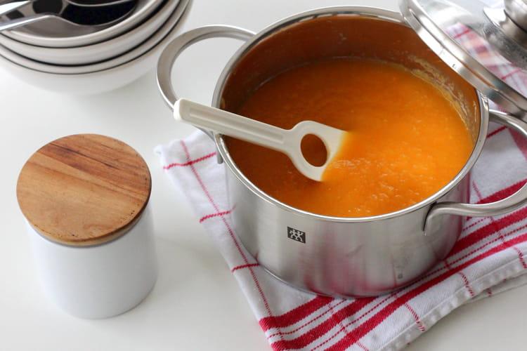 Soupe pâtisson - carotte