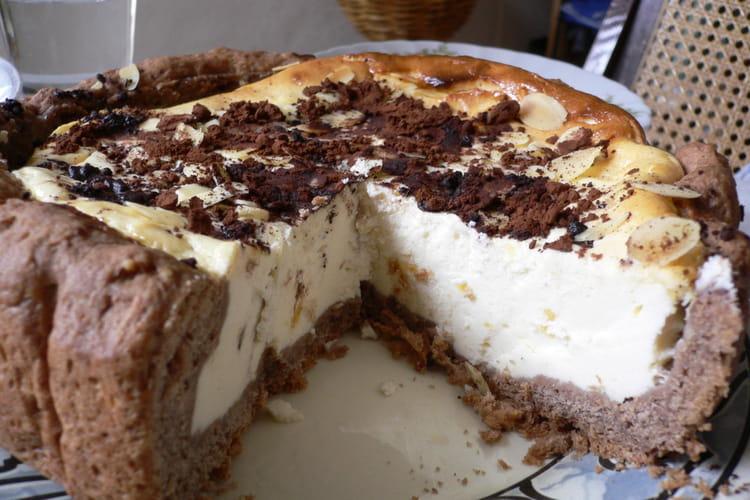 Gâteau au fromage blanc et chocolat (Kaesekuchen)