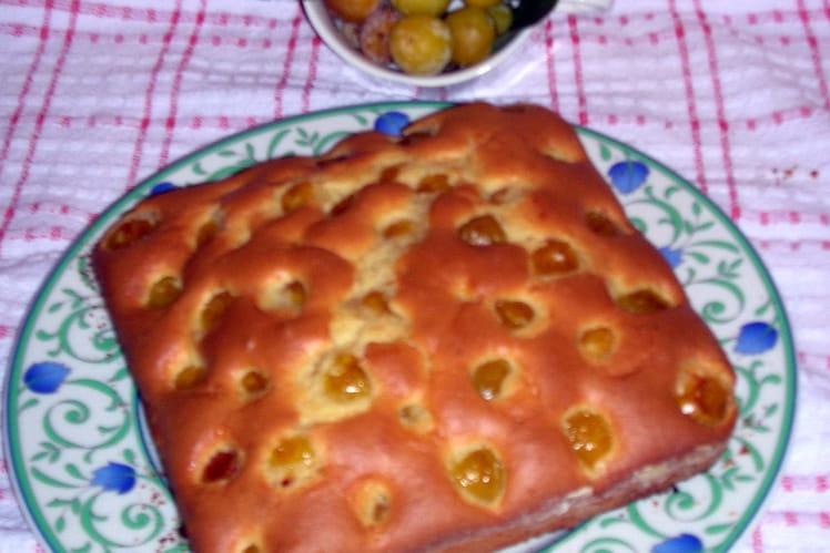 Gâteau de mirabelles au parfum de noisette