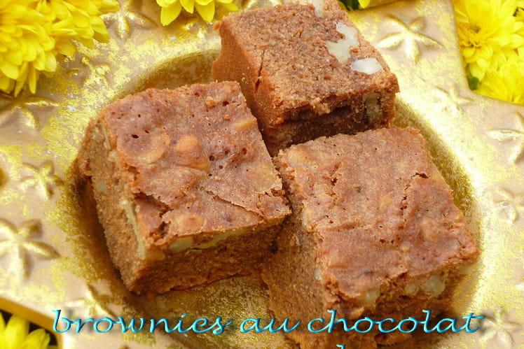 Brownies au chocolat caramel