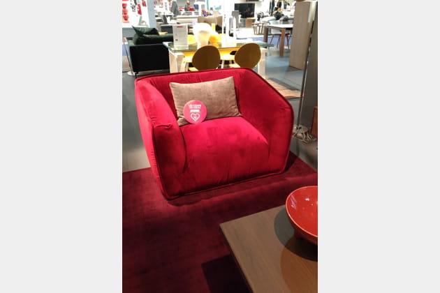 Le fauteuil Sweet de Calligaris