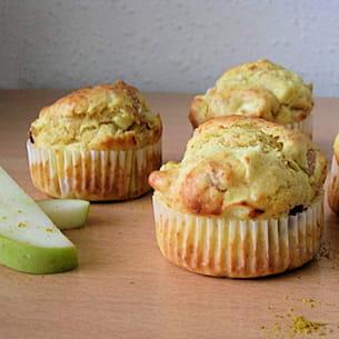muffins à l'indienne: poulet, curry et pomme