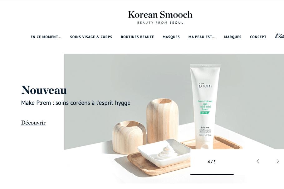 Korean Smooch, plein phare sur cet eshop dédié aux cosmétiques coréens