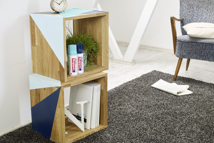 DIY: un meuble de rangement relooké et graphique