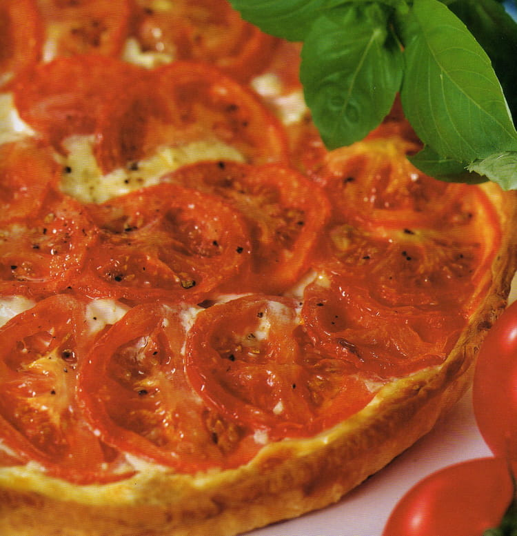 Recette De Tarte Thon Et Tomates Au Basilic La Recette Facile