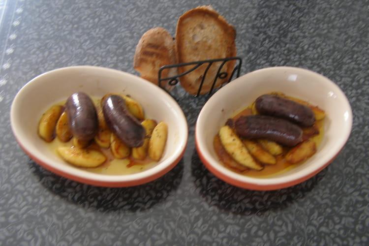 Boudins antillais rôtis aux pommes