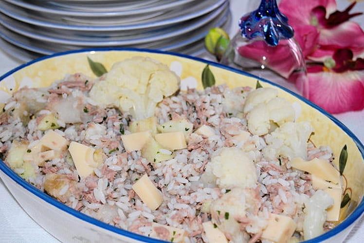 Salade mêlée au riz