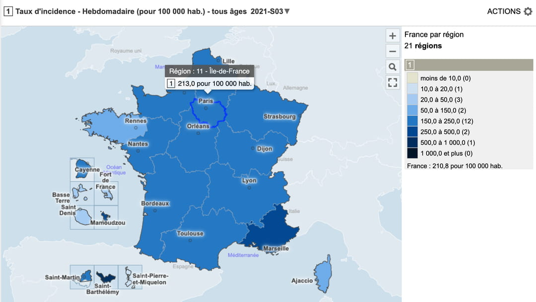 Carte Covid 19 Zone Rouge France Departement Region
