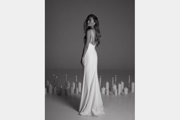 Robe de mariée April, de dos