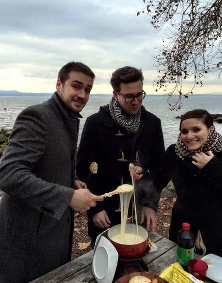 Noémie et Quentin, fondus de fromage