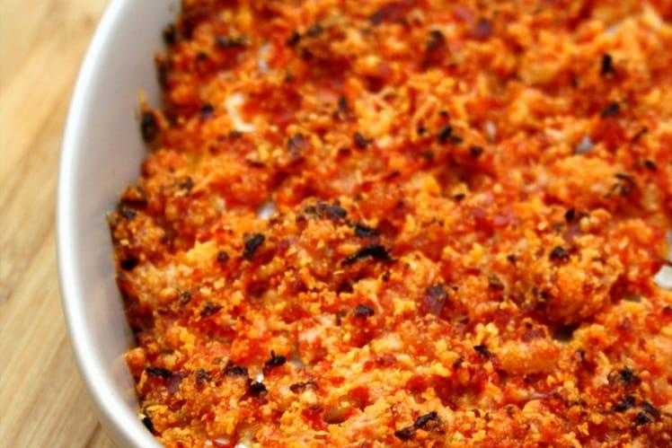 Recette de dos de cabillaud en crumble de chorizo et parmesan la recette facile - Cuisiner des dos de cabillaud ...