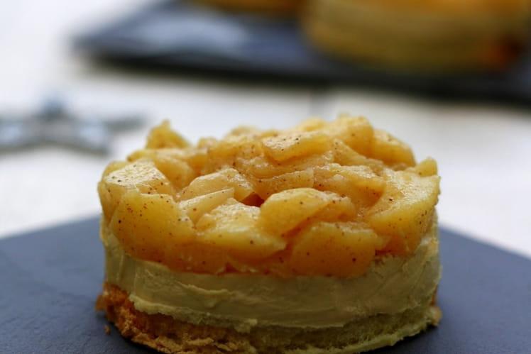 Toast de foie gras aux pommes façon tatin