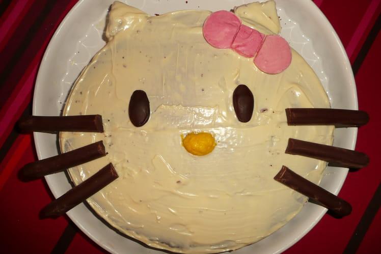 Gâteau Hello Kitty aux deux chocolats