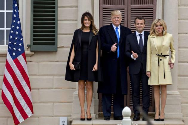 Les Macron découvrent les States (et la vie avec Trump)