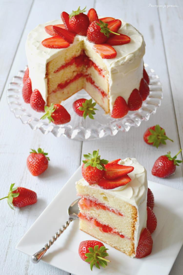 Recette Cake Design Fraise : Recette de Layer cake fraises & citron : la recette facile