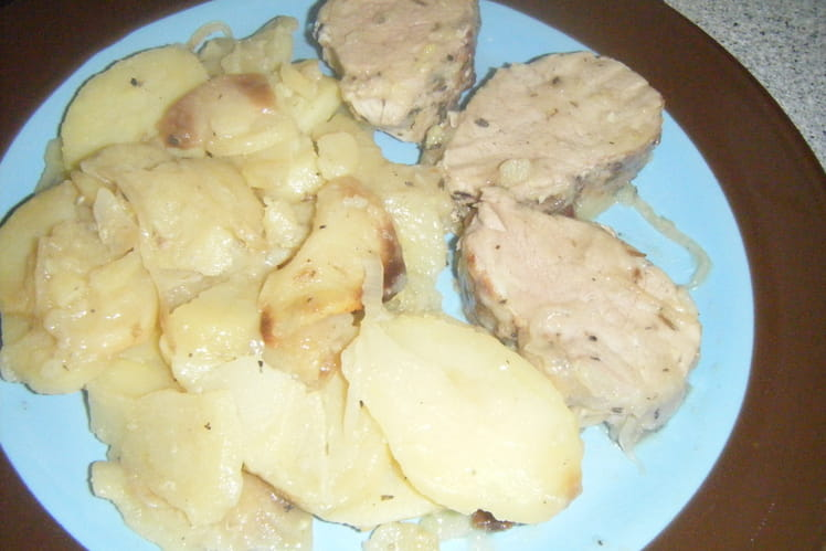 Pommes de terre boulangère et filet mignon