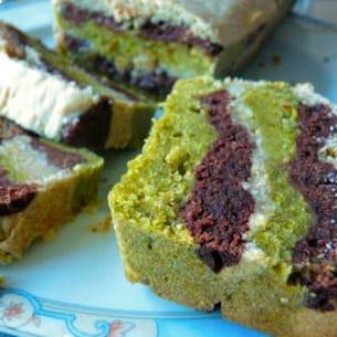 marbré tricolor chocolat-pistache-citron