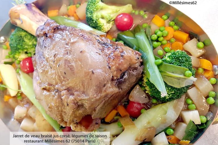 Recette de jarret de veau brais jus cors l gumes de saison - Cuisiner jarret de veau ...