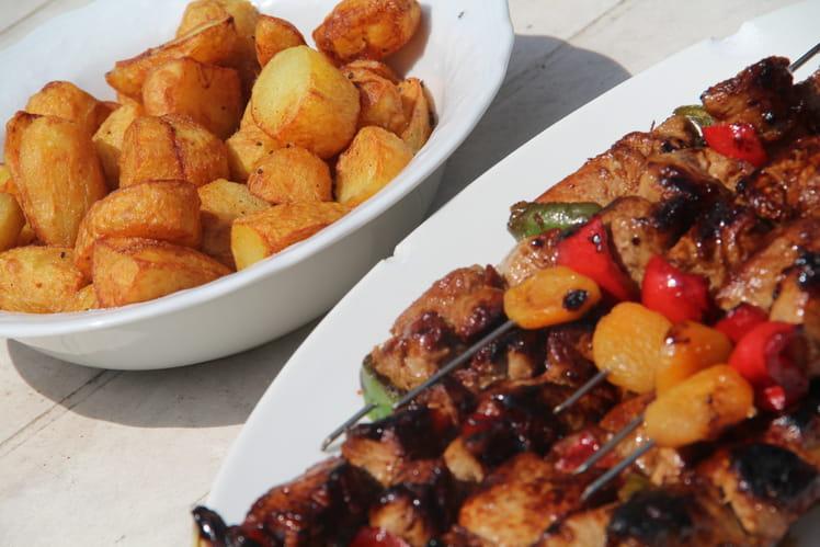 Brochettes de porc à l'asiatique à la plancha