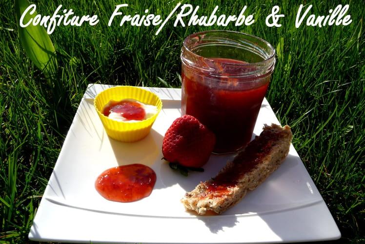 Confiture rhubarbe-fraise et vanille au Cooking Chef