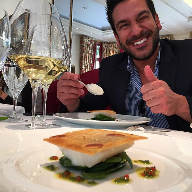 Juan Arbelaez et Denny Imbroisi, leur dîner au Bristol