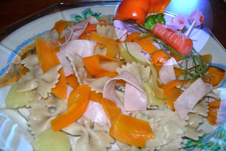 Salade aux nuances orangées
