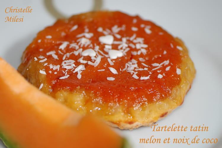 Tartelette tatin melon et noix de coco
