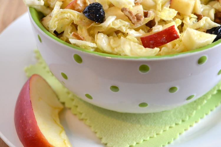 Salade de chou vert, vinaigrette au vinaigre de framboise