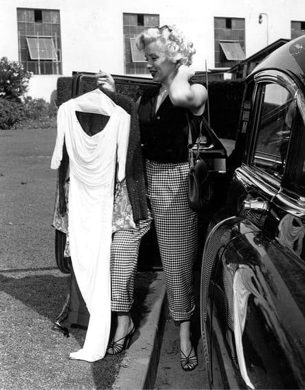 Avant un shooting photo en 1952