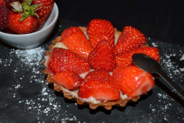 Tartelette aux fraises et sa pâte au miel