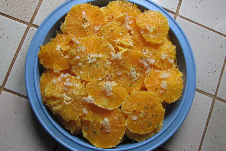 Salade d'oranges aux échalotes
