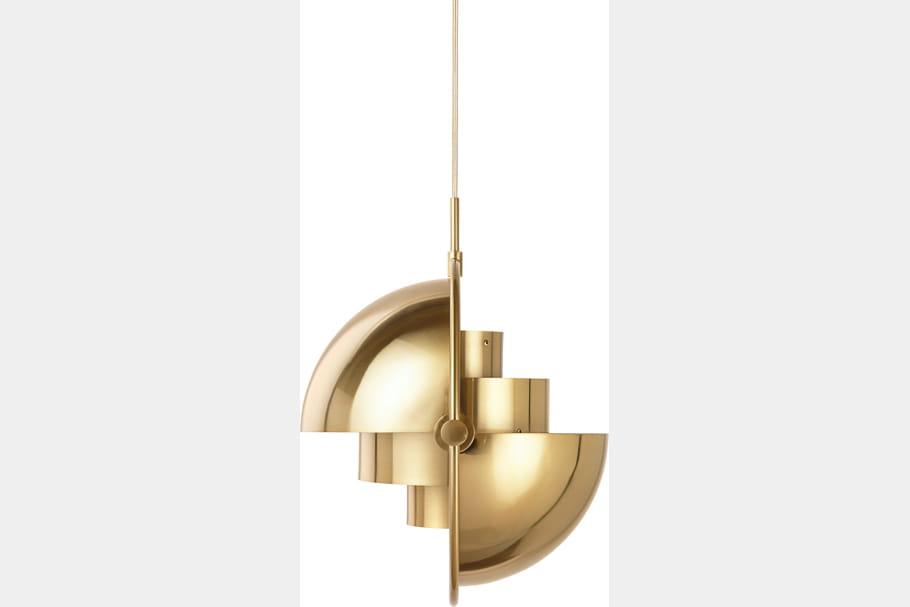 MultiLite Pendant Brass Brass 2Off fleux