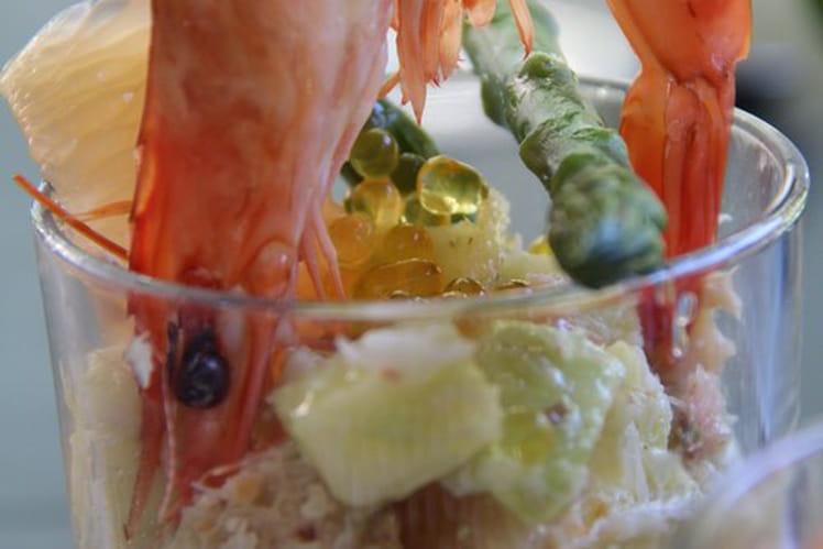 Verrines fraîcheur au crabe