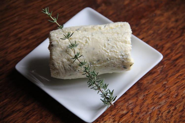 Beurre au thym et à la fleur de sel