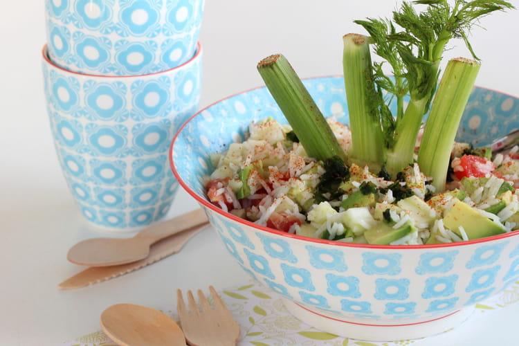 Salade de riz, fenouil et pamplemousse