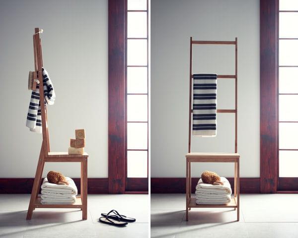 chaise porte serviette ragrund d 39 ikea. Black Bedroom Furniture Sets. Home Design Ideas