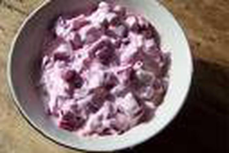 Salade de betteraves rouges au yaourt