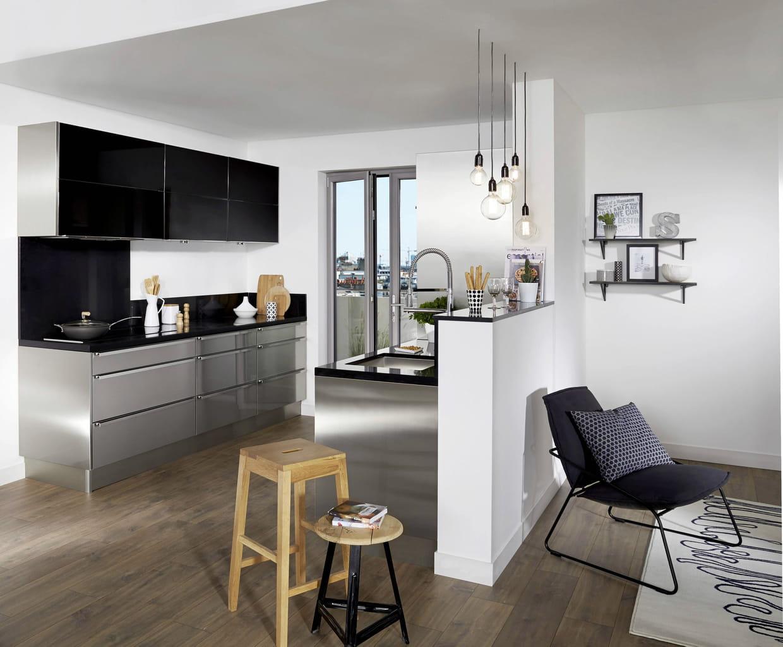 cuisine inox fr d ric anton pour lapeyre. Black Bedroom Furniture Sets. Home Design Ideas