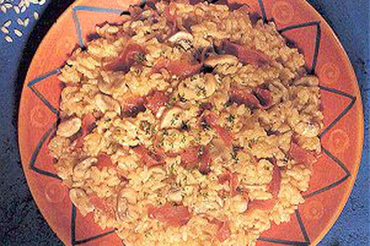 Risotto aux cèpes, carotte et parmesan