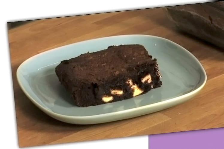Brownies aux pépites de chocolat blanc et gingembre