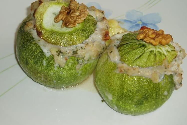 Courgettes au Roquefort et aux noix