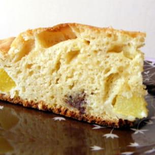 gâteau au yaourt, pêches et toblerone