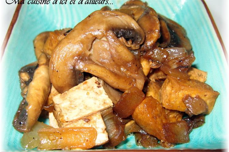 Poêlée champignons et tofu
