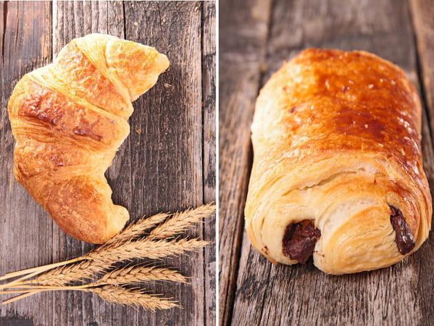 Croissant au beurre ou pain au chocolat ?